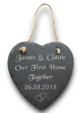 Personalised Heart Plaque Our First Home Together New House Warming Couples Gift