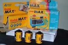 Kodak Max one time use Waterproof Film Camera plus 3 Rolls Kodak Max