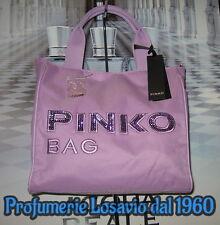 "Borsa PINKO BAG "" Idrostatica "" (Glicine) Nylon ed Ecopelle"