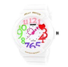 Colorful Women Lady Girl Jelly Analog Rubber Band Waterproof Sport Fashion Watch
