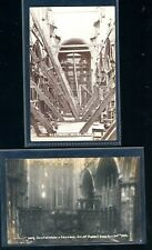 1906  Selby Abbey Fire Disaster  Postcards (2)    (T129)