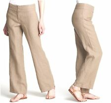 NWT EILEEN FISHER CROSS-DYED LINEN RAYON PANTS - STONE sz PL Retail $178