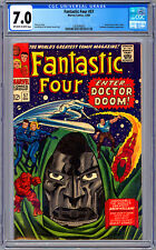 FANTASTIC FOUR #57 CGC 7.0 STAN LEE JACK KIRBY *DOCTOR DOOM SILVER SURFER* 1966