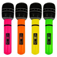 40cm Novelty Inflatable/ Blow Up Microphone Party-Rock Fancy-Dress Accessory NEW