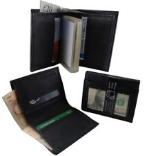 Men's Black Leather Wallet  RFID Proof ID 22 Removable Card Holder Money Note