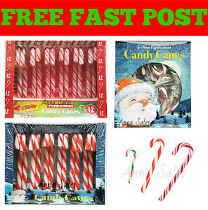 Wrapped Christmas Candy Canes Sweet Stocking Filler Christmas - Various Style