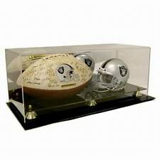 Saf-T-Gard Mini NFL Helmet and Full Size Football Acrylic Display Case - AD52