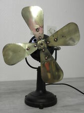 antique fan Electric iron retro art deco vintage machine age desk ventilator old