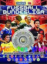 Topps -  Bundesligasticker 2010/2011 kompletter loser Satz mit Sammelalbum