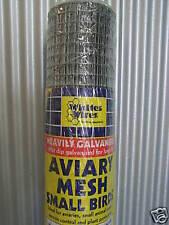 GALVANISED AVIARY MESH Sm Bird 12.7mm x .7mm 5mt Roll