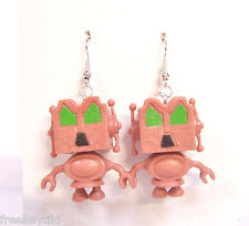 Steampunk Retro Bots B Movie Angry Alien Planet Robot Droid Dangle Earrings