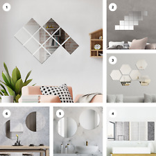 3D Mirror Stickers Acrylic Mural Decal Removable Art Home Living Bathroom Decor