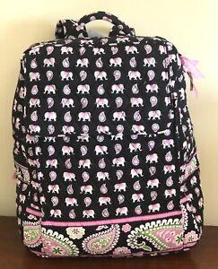 Vera Bradley Large Backpack Pink Elephant 14H x 11W x 4D NWT