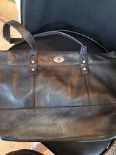 Fossil Long Live Vintage Large Black Pebbled Leather Tote/Shopper Shoulder Bag