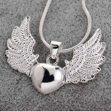 New Fashion Women 925 Silver Heart wing Pendant For Necklace Party Gift Jewelry