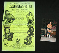 Hardcore Championship Wrestling Flyer with Signed photo of WWF's Tracy Smothers