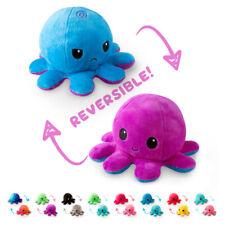 Reversible Plush Soft Double Sided Octopus Mood Toy Emotion Flip