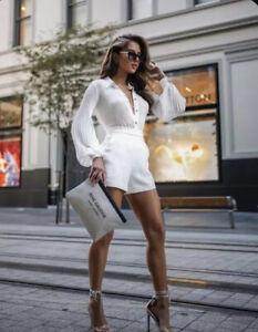 Zara HIGH-WAISTED SHORTS White M Last One