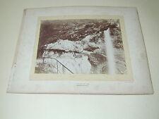 Cascade del Lupo Alpes marittime foto fotografia GILETTA Nice d'epoca XIX