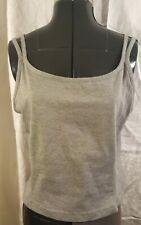Ladies Athletic Works Grey Straps Workout Exercise Sports Top Shirt Xxl 16/18