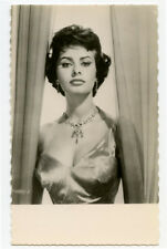 1950s Vintage Movie Film Star SOPHIA LOREN photo postcard