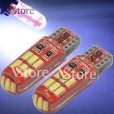 2 Lampade Led T10 Gel Silica SMD 15 SMD 3014 COB No Errore Canbus BIANCO Auto