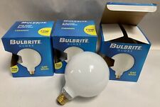 """3"" NEW Bulbrite G40 5"" Dia. Std Base 75W White Globe Light Lamp Bulb (A5)"