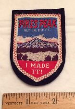 PIKES PEAK I Made It! Mountain Climbing Rockies Colorado CO Felt Patch Badge