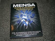 Mensa ~ Word & Number Puzzle Pack (Box Set) ! Free Shipping!