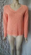 Eileen Fisher Green Eileen coral orange linen mix knitted jumper size M