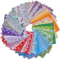 50pcs 10x10cm Fabric Bundle Stash Cotton Patchwork Sewing Quilting Cloth DIY UK