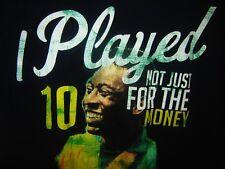 PELE #10 BRAZIL SOCCER FOOTBALL CATBALOU i PLAYED NOT FOR THE MONEY T-SHIRT SZ L