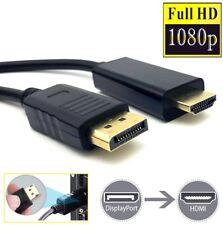 2m Adapter Kabel Display Port auf HDMI DP zu HDMI Konverter Kabel 2K 4K *NEU*