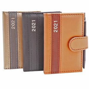 Taschenkalender mit Stift 2021 A7 Notiz Terminplaner Kalender Timer Buchkalender
