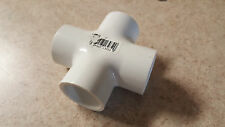 """1"""" inch 4-way Tee PVC fitting connector elbow ( qty 1)  sch 40"""