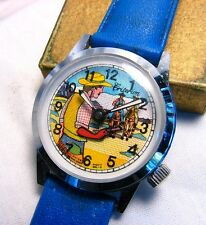 ANIMATED GUNFIGHTER WATCH *CRITERION* COWBOY GUN ACTION w ORIG. STRAP