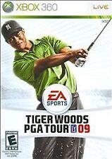 Tiger Woods PGA Tour 09 (Microsoft Xbox 360, 2008) CIB case is cracked.