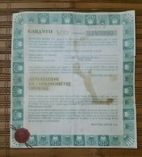 ROLEX Guarantee Paper punched for Datejust 68279