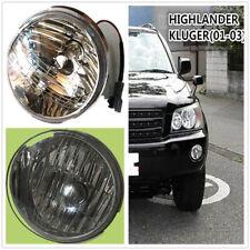 Front Bumper Convex Lens Fog Light Lamp For Toyota HIGHLANDER KLUGER 2001~2003