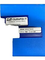 """CJT/Durapoint 15007500 3/4"""" Carbide Tipped  Drill for Hard Steel Style 150"""