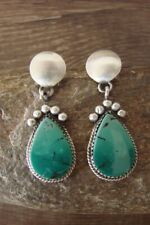 Navajo Sterling Silver Turquoise Post Earrings - SW