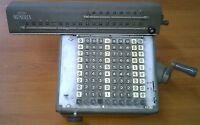 LAGOMARSINO NUMERIA  DEL 1952 RARE VINTAGE CALCULATOR NO OLIVETTI MADE IN ITALY