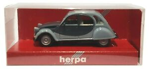1:87 Scale Herpa 020817 Citroen 2CV Charleston - Grey - BNIB