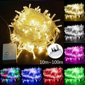 led fairy lights mains Christmas Lights String Wedding Party Outdoor Decor Lamp