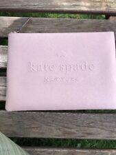 NWT Kate Spade Gia Ash Street Large Black Leather Clutch Pouch WLRU5024