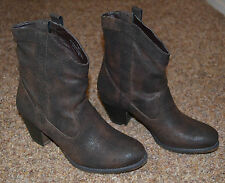 """NEW ~ STYLE&CO. Women Western Low Calf Brown Boots / Size 7m / Small Heel """"CUTE"""""""