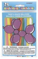Twist and Shape Animal Balloons, 25ct, Multicolored