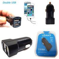 Universal 3.1A Dual USB Car Charger 2 Port 12-24V Cigarette Socket Lighter UK
