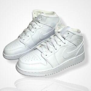 Nike Air Jordan 1 Mid GS   Triple White   Weiß