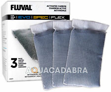 FLUVAL SPEC STAGE 2 A1377 ACTIVATED CARBON 3 PACK FISH TANK AQUARIUM MEDIA